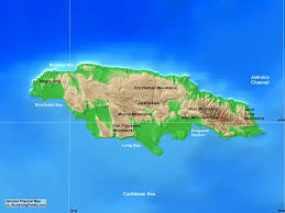 jamaica physical map jamaica physical map a learning family