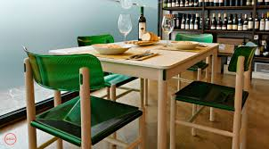 Beech Dining Room Furniture by Contemporary Dining Table Beech Hpl Rectangular Trattoria