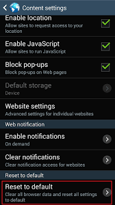 settings for android how to reset your browser settings on android