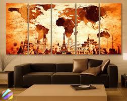 xlarge 30x 70 5 panels art canvas print original