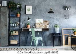 bureau decor vendange décor grenier bureau décor industriel image de