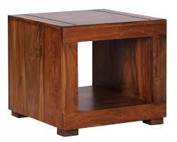 Wohnzimmertisch Kolonial Finebuy Couchtisch Massiv Holz Sheesham 50 Cm Breit Wohnzimmer