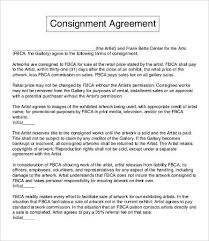 consignment agreement template u2013 12 free word pdf