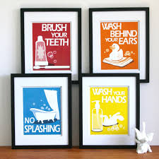 children u0027s bathroom art prints by paper llamas kids world
