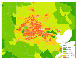 Atlanta Zip Code Map Density Dallas Houston Or Atlanta Map Bigger Better People