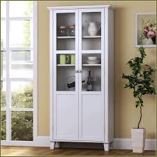 furniture black polished oak wood tall narrow cabinet storage