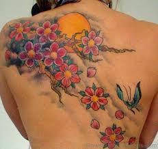 57 best cherry blossom tattoos on back