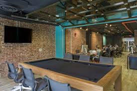 Pool Table Meeting Table Office Tour Canvas Co S Washington Dc Coworking Office Pool