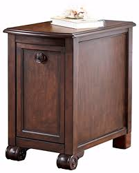 hardwood 10 inch chairside end table amazon com ashley furniture signature design brookfield chair