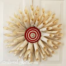 christmas book page wreath