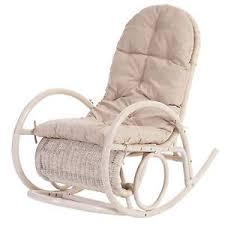 cuscini per sedia a dondolo sedia a dondolo esmeraldas legno rattan 115x58x101cm cuscino