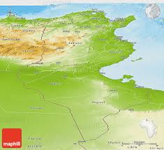 tunisia physical map physical panoramic map of tunisia