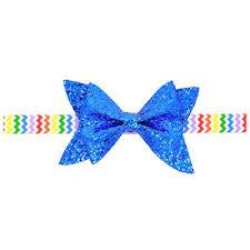 kids hair accessories twdvs newborn shiny bow knot hair bands elastic bow headband kids