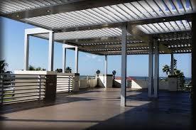 Motorized Patio Covers Motorized Aluminum Pergola U0026 Louver Closing Roof