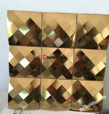 Metal Wall Tiles Kitchen Backsplash Gold Metal Mosaic Wall Tile Backsplash Smmt100 Mirror Metallic