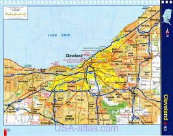 Map Of Southern Ohio by Cleveland Map Detailed Road Map Of Cleveland Ohio Very Clear Map