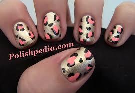 gold and pink cheetah print nail polishpedia nail nail