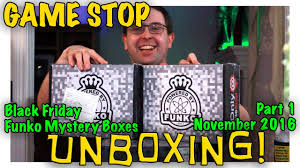 gamestop black friday 2016 unboxing gamestop black friday funko mystery boxes part 1