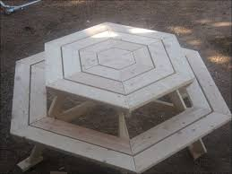 Folding Wood Picnic Table Plans by Exteriors Folding Picnic Table Bench Plans Octagon Picnic Table
