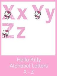 kitty alphabet letters free pdf download birthday party