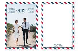 faire part de remerciement mariage mariage cartes de remerciement faire part à l américaine