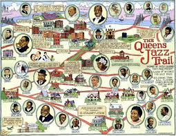 Queens College Map Queens Jazz Trail Map Ephemera Press