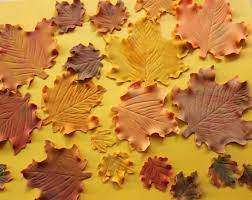 20 edible fall maple leaves fondant thanksgiving cupcake cake