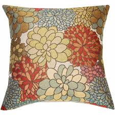 Orange Home And Decor Better Homes And Gardens Mumsfield Floral Decor Pillow 14