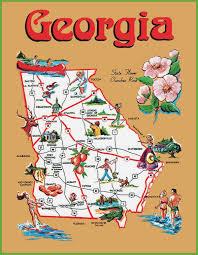 Map Of Atlanta Map Of Georgia Usa Georgia State Maps Usa Travel Maps And Major