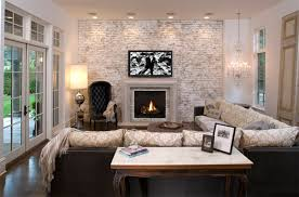 livingroom fireplace 20 painted brick fireplaces in the living room home design lover