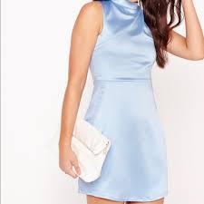 light blue mini dress asos dresses light blue satin mini dress poshmark