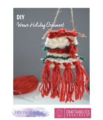 craftaholics anonymous woven diy christmas ornament