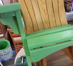 How To Paint An Adirondack Chair Charmed By Heirlooms Staining With Chalk Paint