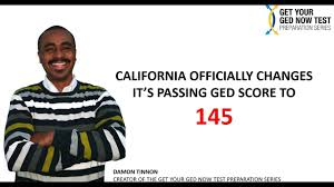new ca ged passing score 2016 youtube