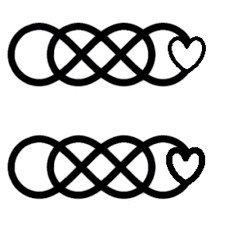 double infinity tattoo which do you guys like better thinner or