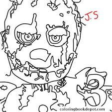 fnaf mangle coloring pages five nights at freddys fnaf golden freddy coloring pages