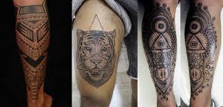 tattoo tribal na perna masculina tatuagens masculinas na perna