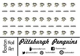 nhl pittsburgh penguins waterslide nail decals 50pc nail