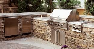 outdoor kitchen backsplash outdoor kitchen design stainless steel grill and bbq rock