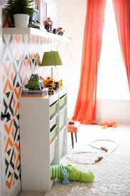 Orange Accent Wall by Stenciled Accent Wall And Giveaway With Royal Design Studio