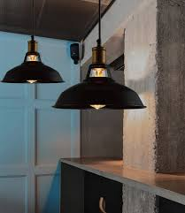 retro kitchen lighting ideas 89 most terrific vintage black shade industrial pendant l for