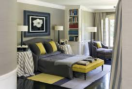 charming gray and yellow decorations bedroom ideas