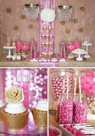 trend alert rustic glam pink and gold sweets table soiree event