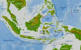 Asia Geography Map by Indonesia Physical Map