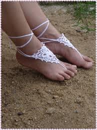crochet dreamcatcher barefoot sandals shoes foot jewelry
