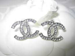diamond earrings price amazing chanel logo diamond earrings 48 for logo inspiration with