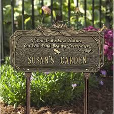 outdoor memorial plaques dragonfly poem garden sign personalize
