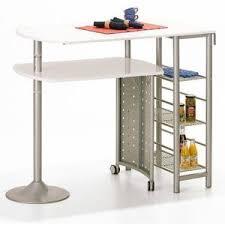 acheter bar cuisine comforium table bar cuisine en métal coloris blanc design pas