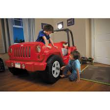 red jeep little tikes jeep wrangler toddler to twin convertible bed red
