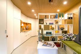 arhidot design turns a dirty dingy garage into their dream office